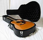 フォークギター用ハードケース。なんと8,400円、全国送料無料です!